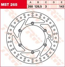 TRW MST disque de frein fixe MST265