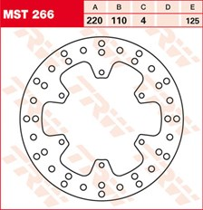TRW MST vaste remschijf MST266