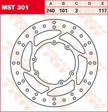 TRW MST disque de frein fixe MST301