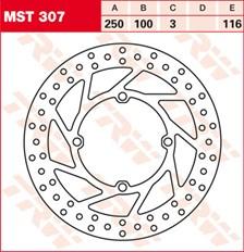 TRW MST vaste remschijf MST307