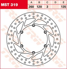 TRW MST disque de frein fixe MST319