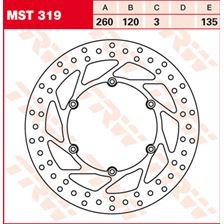 TRW MST vaste remschijf MST319