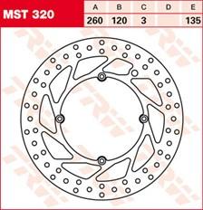 TRW MST disque de frein fixe MST320