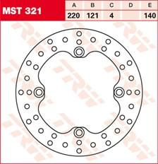 TRW MST disque de frein fixe MST321