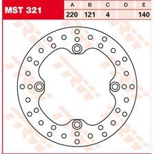 TRW MST vaste remschijf MST321
