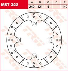 TRW MST disque de frein fixe MST322
