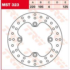 TRW MST vaste remschijf MST323
