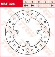 TRW MST disque de frein fixe MST324