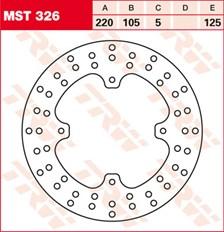 TRW MST vaste remschijf MST326