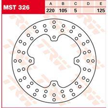 TRW MST disque de frein fixe MST326