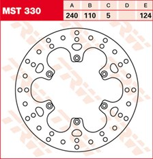 TRW MST vaste remschijf MST330