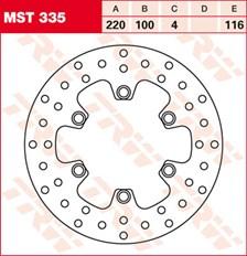 TRW Disque de frein MST335