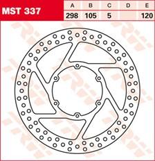 TRW Disque de frein MST337
