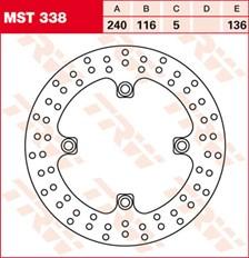 TRW MST disque de frein fixe MST338