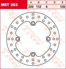 TRW MST disque de frein fixe MST353
