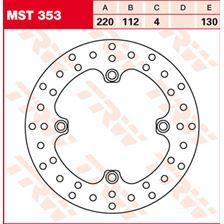 TRW MST vaste remschijf MST353