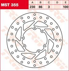 TRW Disque de frein MST355