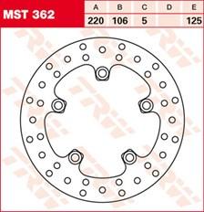 TRW Disque de frein MST362