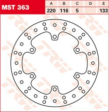 TRW MST disque de frein fixe MST363