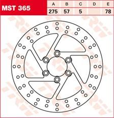 TRW MST disque de frein fixe MST365