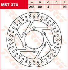 TRW Disque de frein MST370