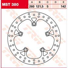TRW MST vaste remschijf MST380