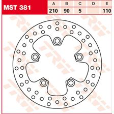 TRW MST vaste remschijf MST381