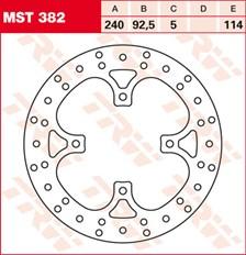 TRW MST vaste remschijf MST382
