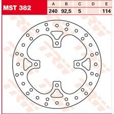 TRW MST disque de frein fixe MST382