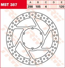 TRW MST vaste remschijf MST387