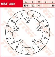 TRW MST vaste remschijf MST389