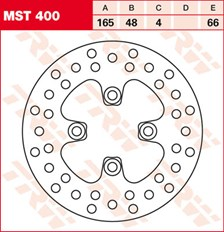TRW MST disque de frein fixe MST400