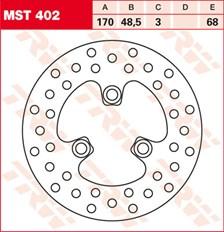 TRW MST disque de frein fixe MST402