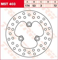 TRW MST disque de frein fixe MST403
