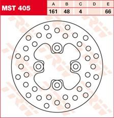 TRW Disque de frein MST405