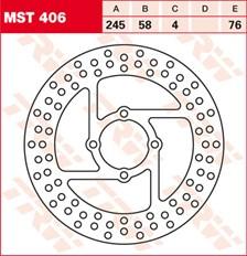 TRW MST disque de frein fixe MST406