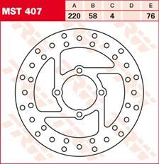 TRW Disque de frein MST407