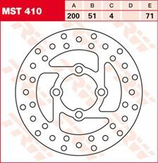 TRW Disque de frein MST410