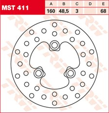 TRW MST disque de frein fixe MST411