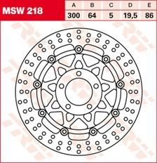 TRW MSW Disque de frein flottant MSW218