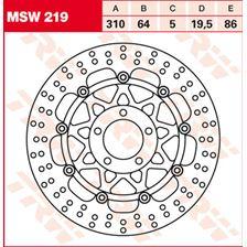 TRW MSW Disque de frein flottant MSW219