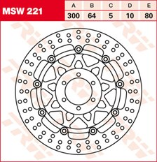 TRW Remschijf MSW221