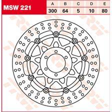 TRW MSW Disque de frein flottant MSW221