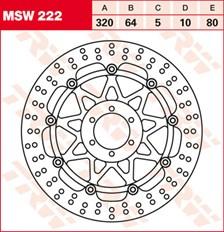 TRW Disque de frein MSW222