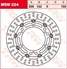 TRW MSW Zwevende remschijf MSW224