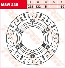 TRW MSW Zwevende remschijf MSW235