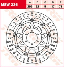TRW MSW Disque de frein flottant MSW236