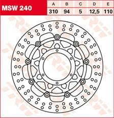 TRW Disque de frein MSW240