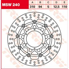 TRW MSW Zwevende remschijf MSW240