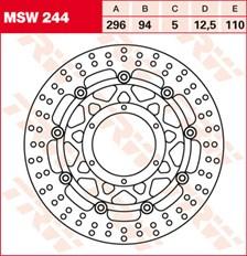 TRW MSW Disque de frein flottant MSW244